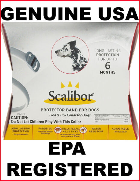 Scalibor 6 Month Protector Collar For Fleas And Ticks Genuine USAEPA Registered