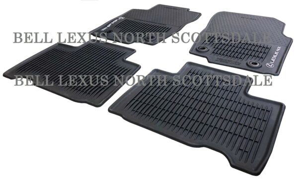 LEXUS OEM FACTORY ALL WEATHER FLOOR MAT SET 2015-2019 NX200T NX300H NX300 BLACK