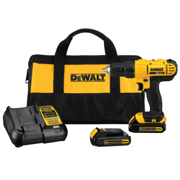 DEWALT 20V MAX Li-Ion 1/2 in. Compact Drill Driver Kit DCD771C2 Recon