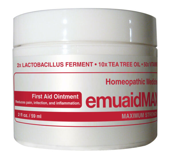 Emuaid MAX First Aid Ointment 2oz - For Eczema Acne Dermatitis Psoriasis