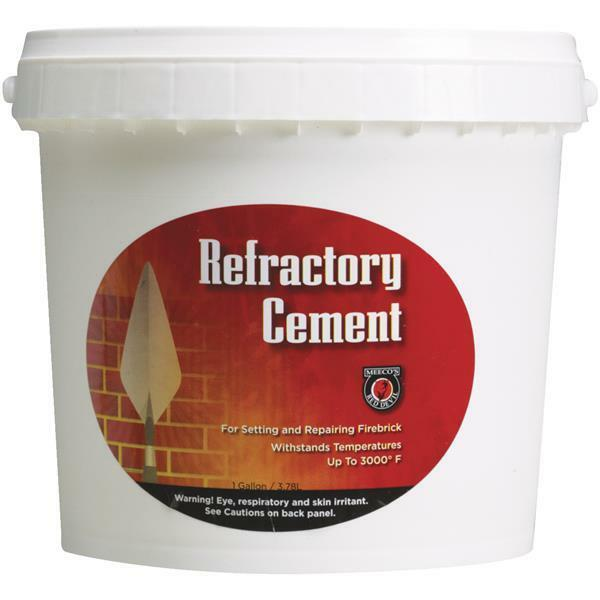 2-Meeco´s Red Devil Buff Color 1 Gal 3000 Degree Refractory Furnace Cement 611