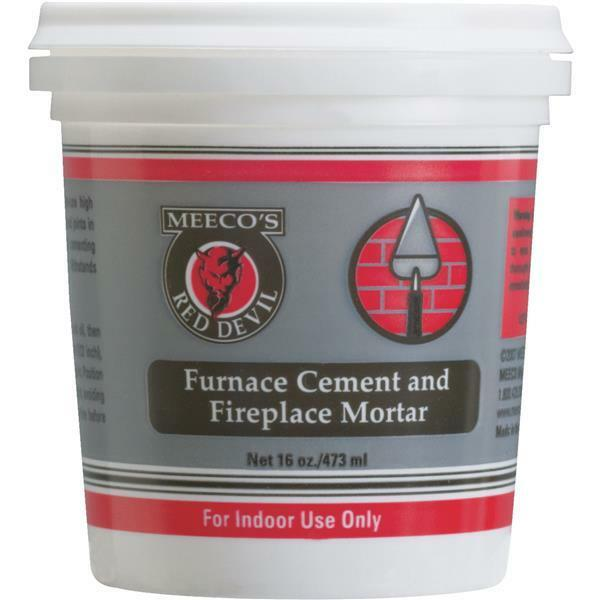 12 Pk Meeco´s Red Devil 1 Pt. Gray Furnace Cement & Fireplace Mortar 1353