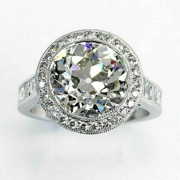 7.09 Cttw Platinum Diamond WeddingEngagement Ring Premium 3.84 G VS1 EGL Center