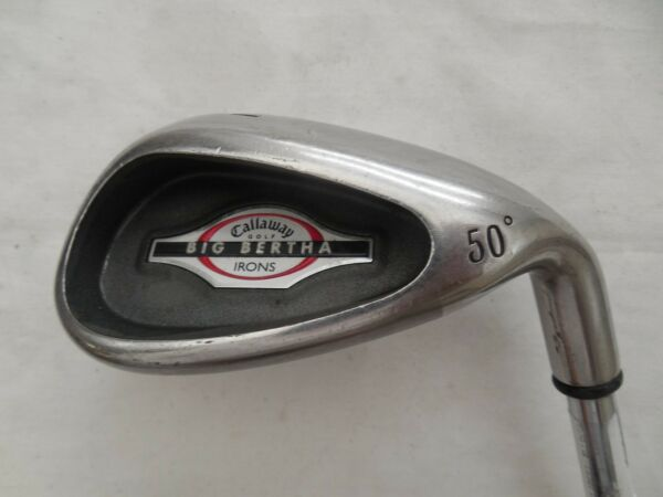Used Callaway 2002 Big Bertha 50* GW Gap Wedge Callaway Uniflex Steel Shaft RH