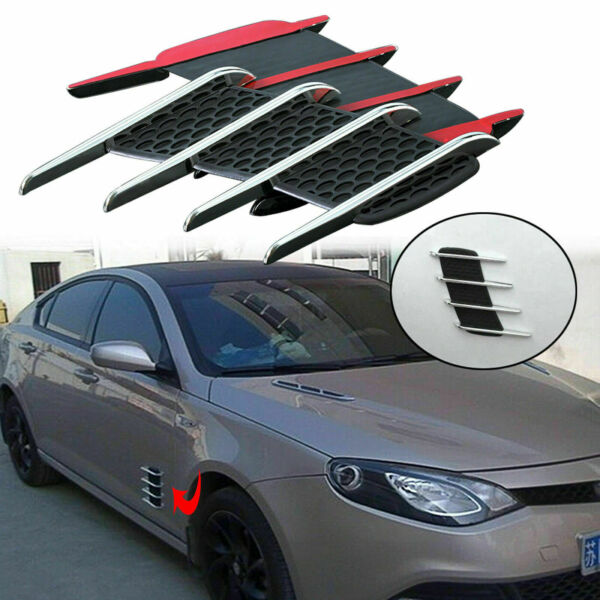 Auto Flow Vent Fender Intake Grille Air Net Door Decal for Car Hood Side Sticker