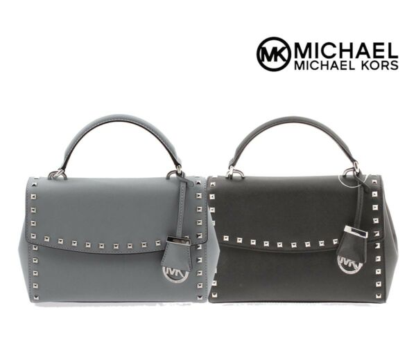 NWT Authentic Michael Kors Ava Small Top Handle Leather Satchel Cute 30T6SA6S1L