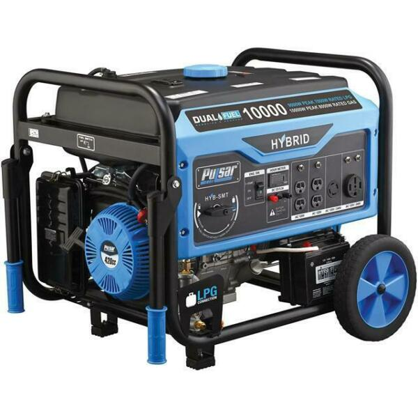 Pulsar 10000W Dual Fuel Gas/Propane Generator w/ Electric Start PG10000B16