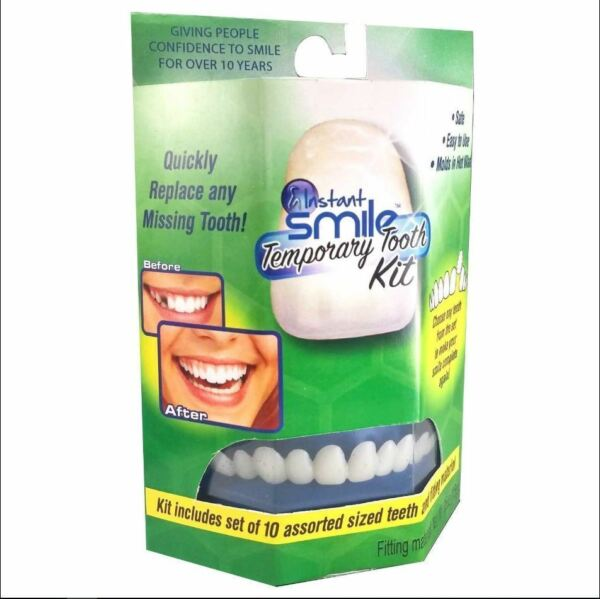 Instant Smile Temporary Tooth Kit Temp Repair Replace Missing DIY Safe  $17.95