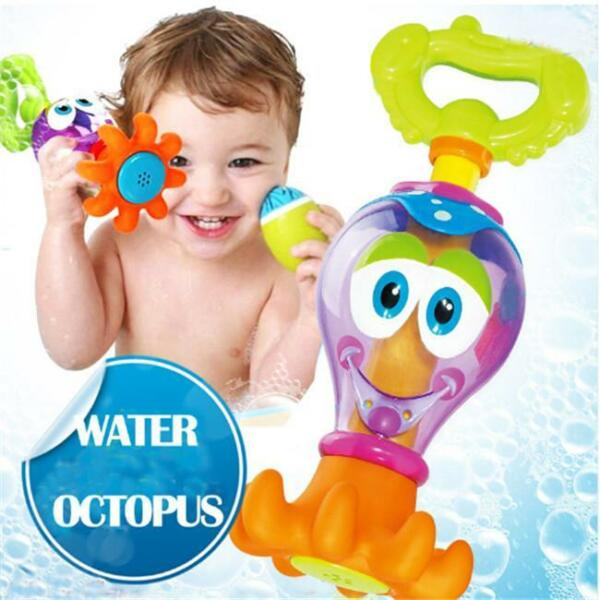 Bath Time Toys Bathing Shower Octopus For Baby Boys Girls Water Play Toy W