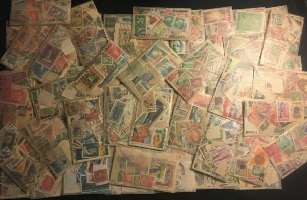 Mint+Used Postage stamps from around The World-Lot-set from BIG Collection+Bonus