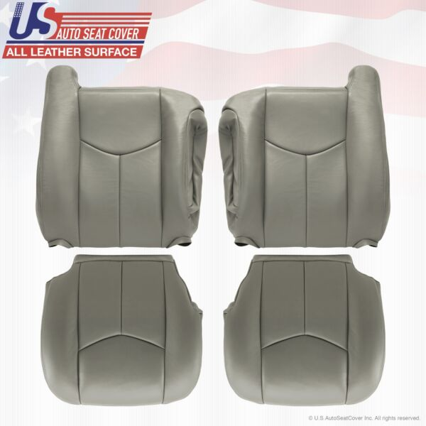2003 2004 2005 2006 Chevy Tahoe Suburban GMC Yukon leather seat cover Pewter 922