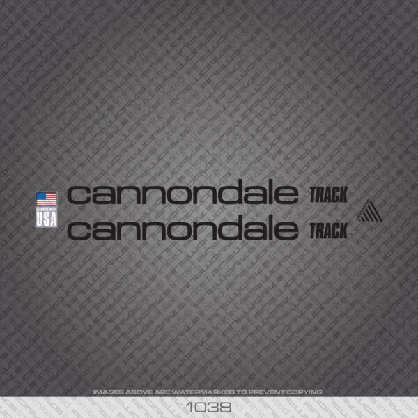 01038 Cannondale Track Bicycle Stickers Decals Transfers Black GBP 14.99