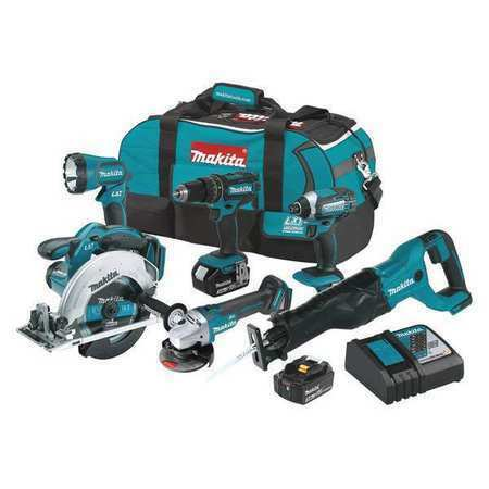 MAKITA XT610 18V LXT® Lithium-Ion 3.0AH Cordless 6-Pc. Combo Tool Kit