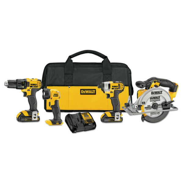 DeWalt DCK421D2 20V MAX Series Compact Lithium-Ion 4-Tool Combo Kit New