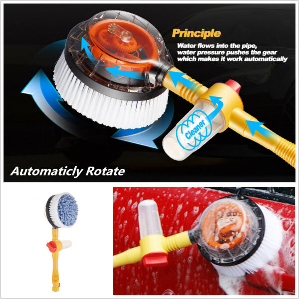 Car Wash Switch Water Flow Spray Foam Automatic Washing Brush Auto Clean Tools