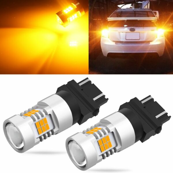 JDM ASTAR 2x 3157 BAY15D Amber 3030 SMD Super Bright LED Turn Signal Lights Bulb