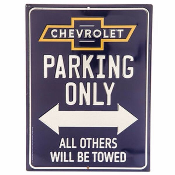 Chevrolet Parking Only Embossed Metal decor 12