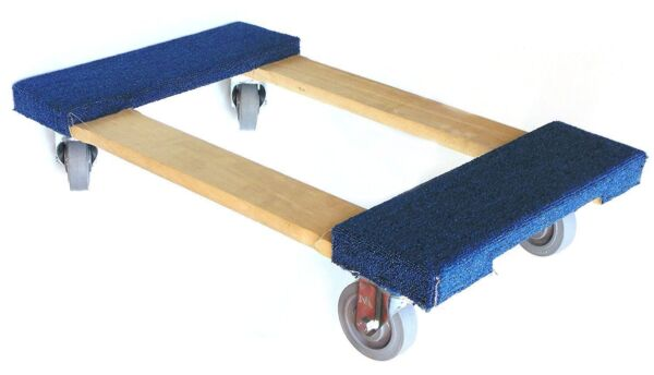 NK Furniture Movers Dolly with 4quot; Swivel Casters with Brake 30quot; x 17quot; Blue $111.95