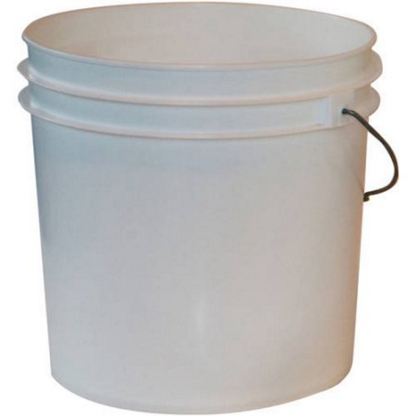 White Pail Paint Bucket Plastic Metal Handle 2 Gal CASE OF 10 Garden And Yard