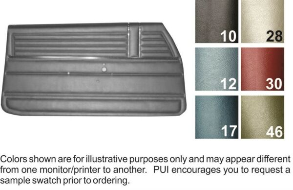 1968 Chevrolet El Camino Door Panels - PUI