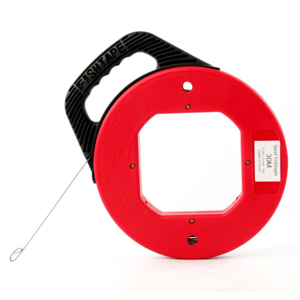 100 Ft Fish Tape Electrician Reel Pull Wires Cable Steel Hand Puller Tools $19.99