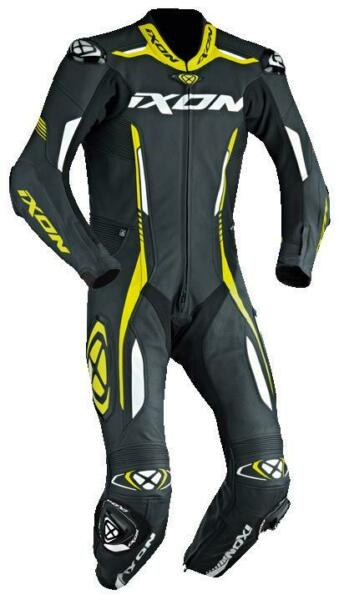 Ixon Vortex Full Race Spec One Piece Motorcycle Leathers Flo Yellow Save £140