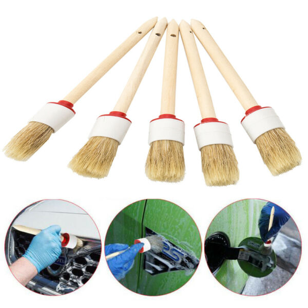 5X Detailing Brushes for Car Interior Cleaning Seats Wheels HOME WINDOW TOOLS