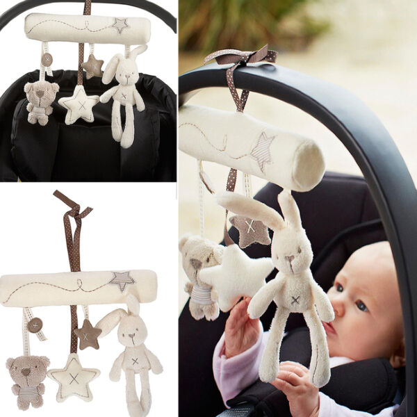 Neu Musical Plush Crib Stroller Baby Pram Rattle Hanging Rabbit Star Toy Animal