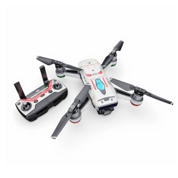 DJI Spark Wrap - Red Valkyrie by Drone Squadron - Sticker Skin Decal