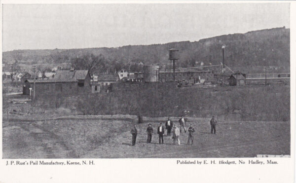 KEENE  New Hampshire  10s-20s; J.P. Rust's Pail Manufactory