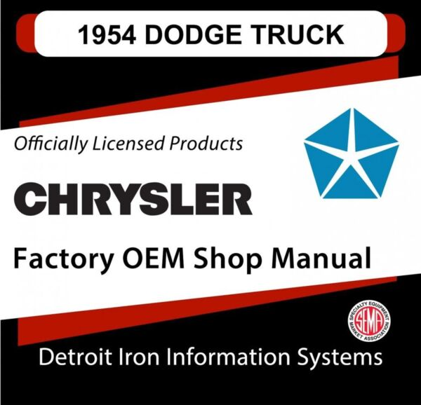 1954 Dodge C Series Light Duty Truck Shop Manual CD