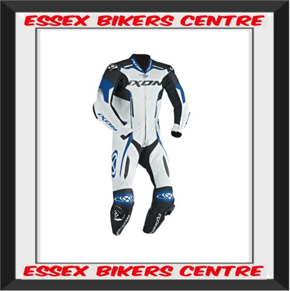 Ixon Vortex Full Race Spec One Piece Motorcycle Leathers Blue SALE Save £130