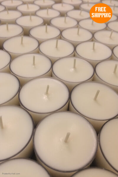 Soy Tealight Candles Unscented - Best Price 100% Soy Wax 6-8 Hours - Bulk Packs