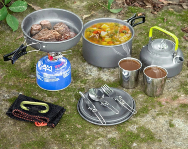 Camping Equipment Outdoor Accessories Cookware Survival Set For Cooking Groupset $49.90