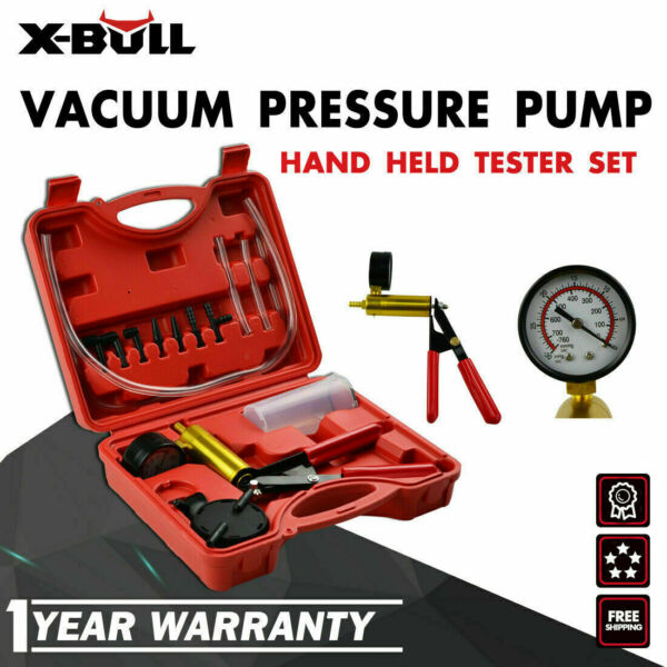 X-BULL Hand Held Vacuum Pressure Pump Tester Brake Fluid Bleeder Bleeding Kit