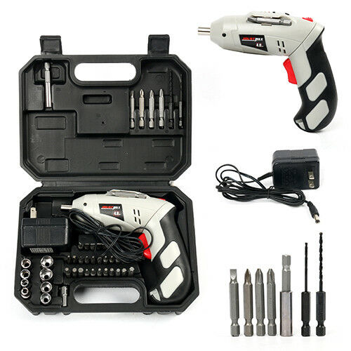 Cordless Battery Drill Power Tools 4.8V w/45Pcs Screwdriver  Drill for Home work