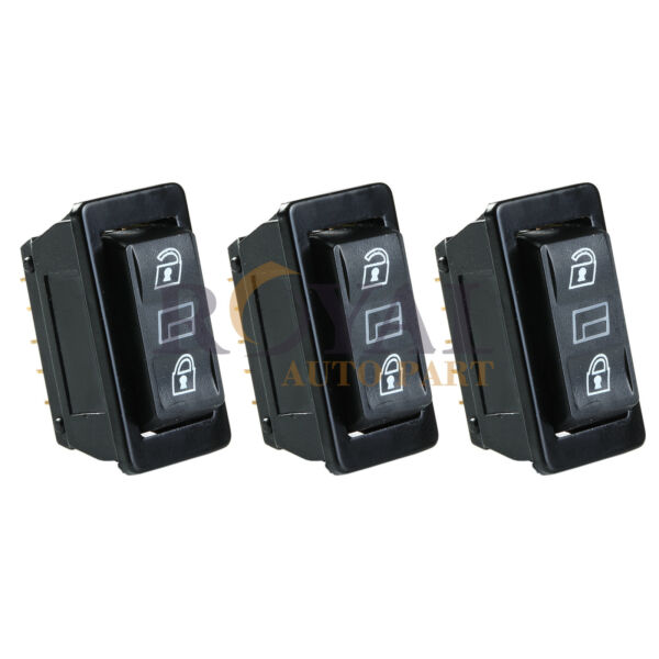 3 Car Momentary Power Power Door Lock Unlock Switches Universal $8.79