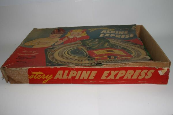 1950#x27;s Automatic Toy Co Alpine Express Trolley Set with Box $119.95