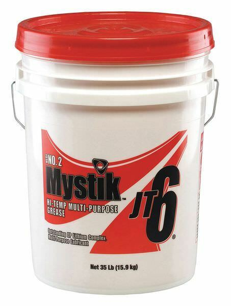 MYSTIK 665005002044 35 lb. Red High Temperature Grease Pail