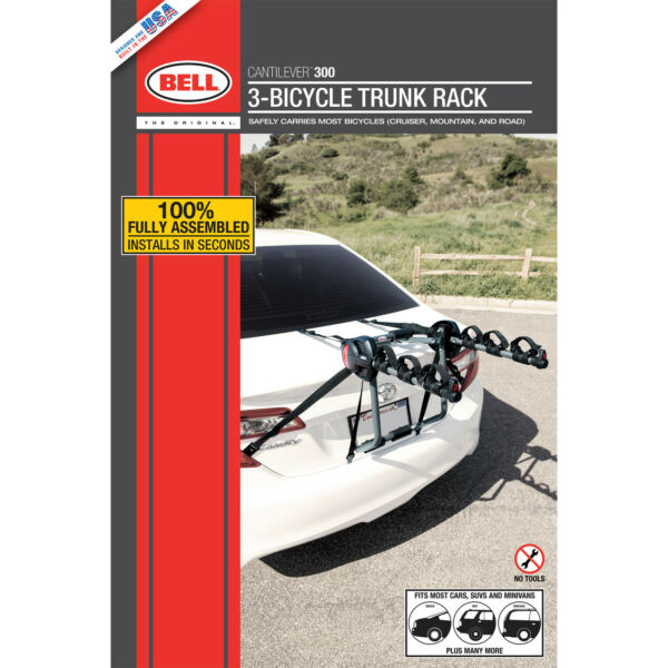 Bell Cantilever 300 3 Bicycle Trunk Rack $80.31