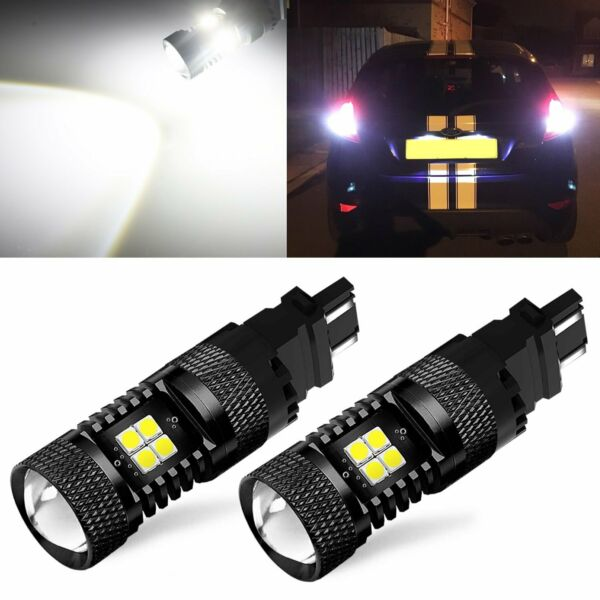 JDM ASTAR 2x 3157 3156 Amber Super Bright 3030 SMD LED Turn Signal Lights Bulbs