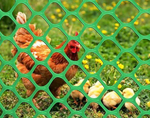 PVC Poultry Net Garden Fruit Tree Protection Mesh Wire Fence 6x30FT Green