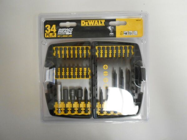 NEW Dewalt DW2153 Impact Ready Accessory Set, 34-Piece Bit Set