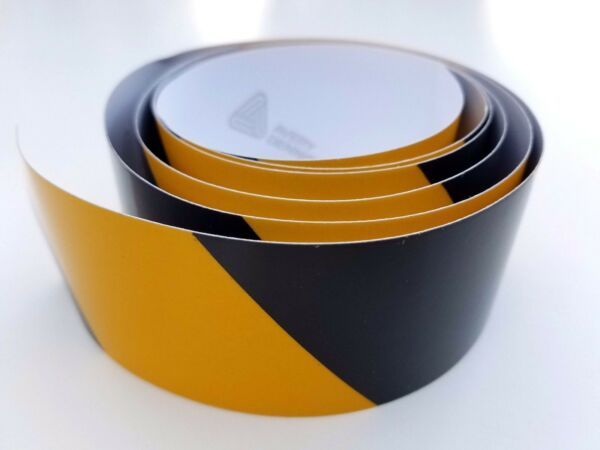 QTY 10 Black & Yellow Safety Stripe Reflective Caution Warning Tape USA 2
