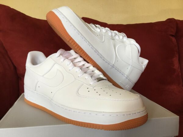 Brand New! Nike Air Force One 1 Low White/Gum! Size 14! Never Worn! 2013! DS!