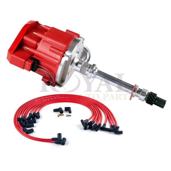 New Small Block SBC Chevy 305 350 400 HEI Distributor & Wires 90* Kit