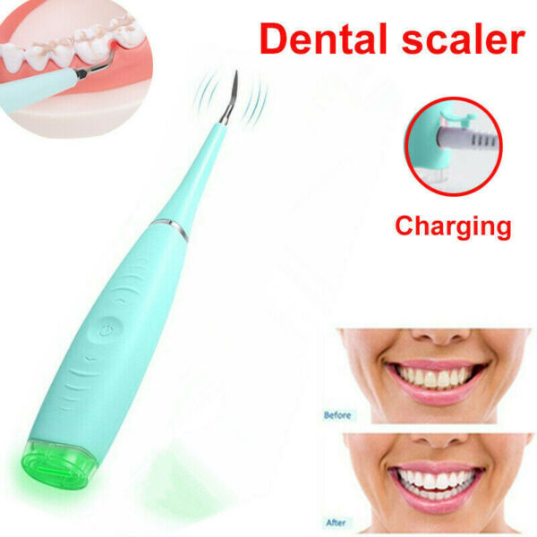 Portable Electric Sonic Dental Scaler Tooth Calculus Remover Tooth Tartar T HS