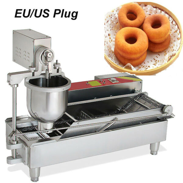 110220V DONUT MAKER MAKING MACHINE GOLDEN DONUTS MINI DONUTS WIDER OIL TANK