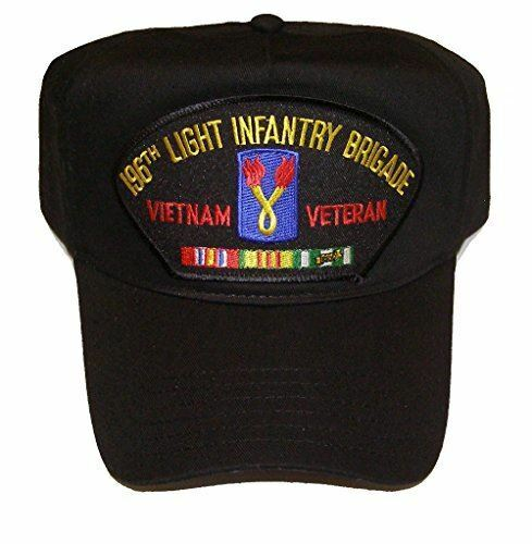 US ARMY 196TH LIGHT INFANTRY DIVISION VIETNAM VETERAN W SERVICE RIBBONS HAT CAP