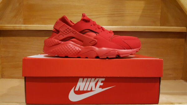 Nike Air Huarache Run GS Triple All Red 654275 600 Varsity October Boys Girls
